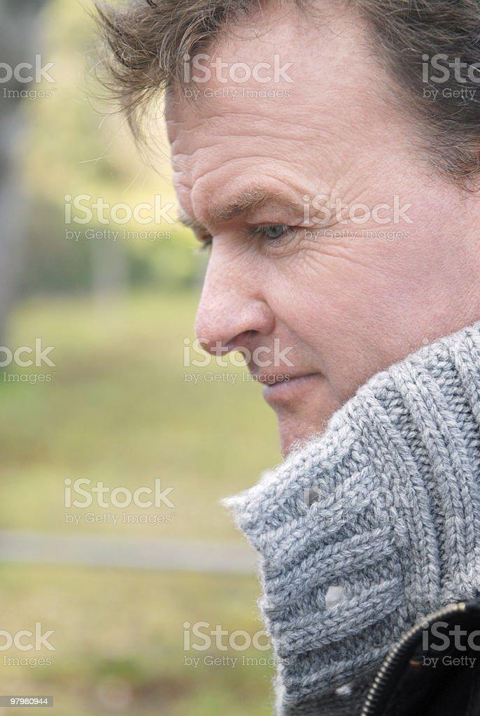 pensive man. royalty-free stock photo