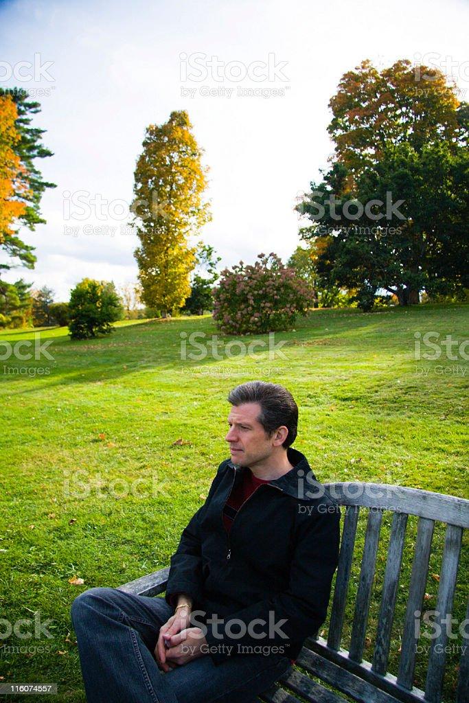 Pensive royalty-free stock photo