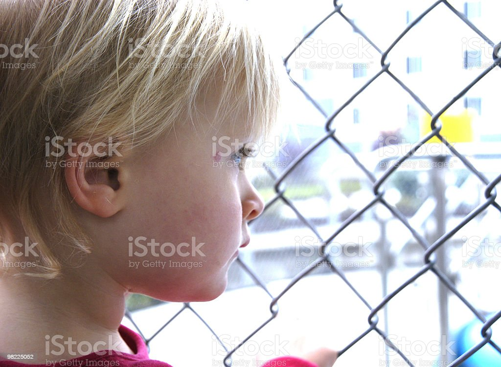 Pensive royalty-free stock photo
