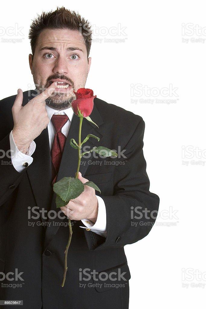 Nachdenklich romantische Mann Lizenzfreies stock-foto