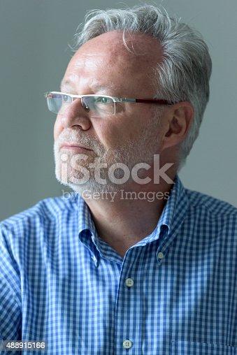 istock Pensive senior man 488915166