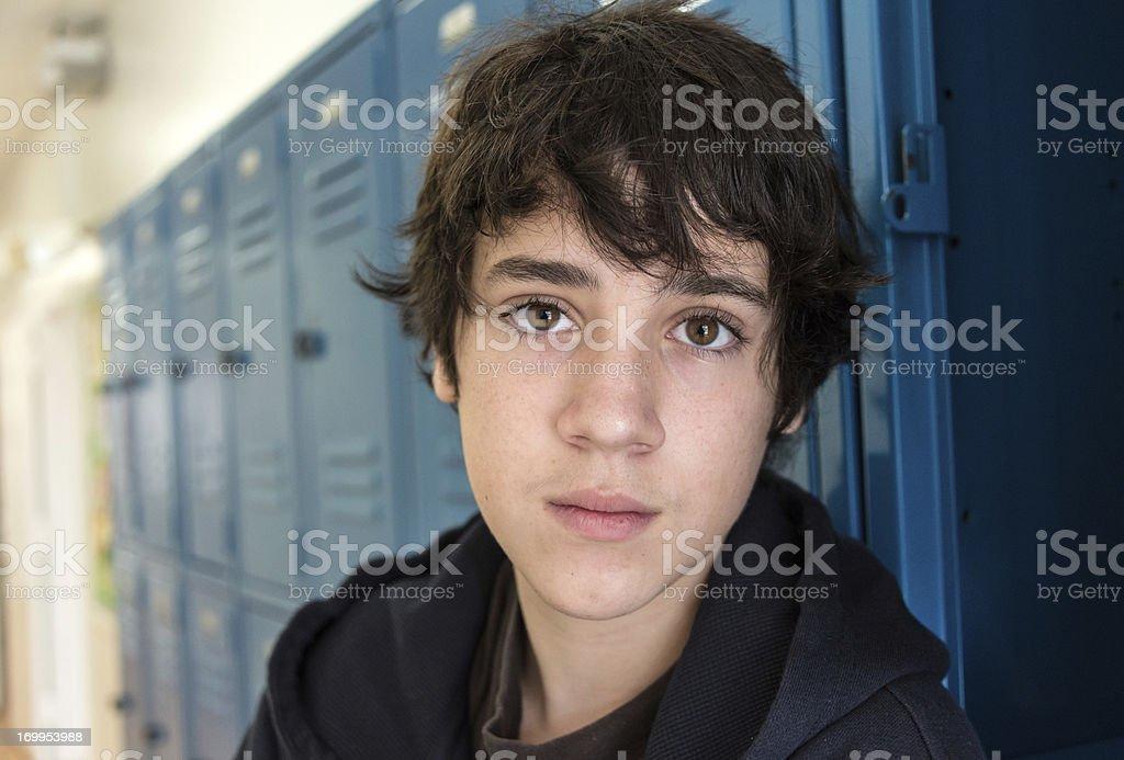 Pensive Teenager stock photo