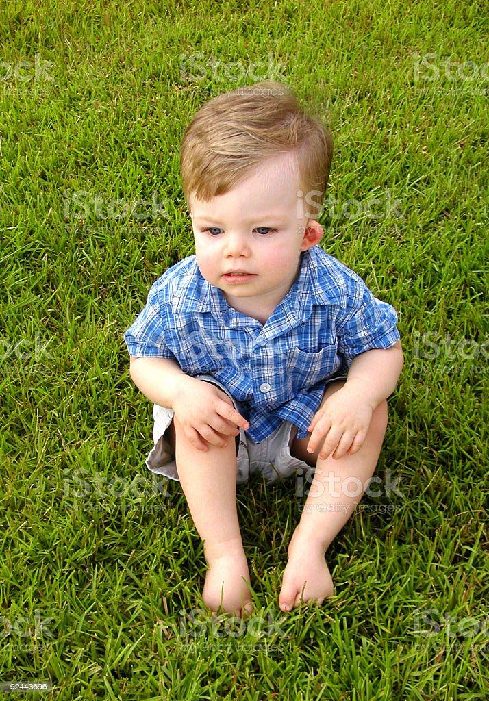 pensive thinker royalty-free stock photo
