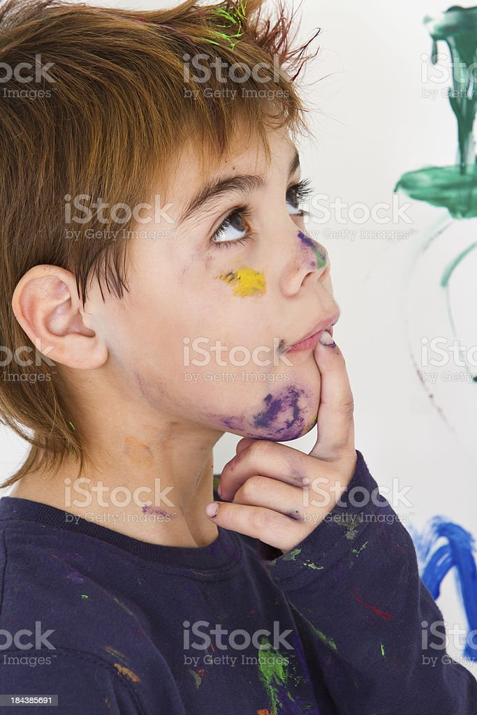Pensive young artist royalty-free stock photo