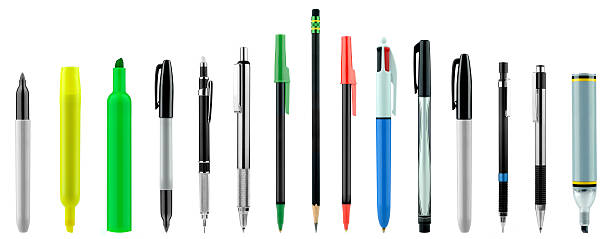 pens,pencils,highlighters - pencil stock photos and pictures