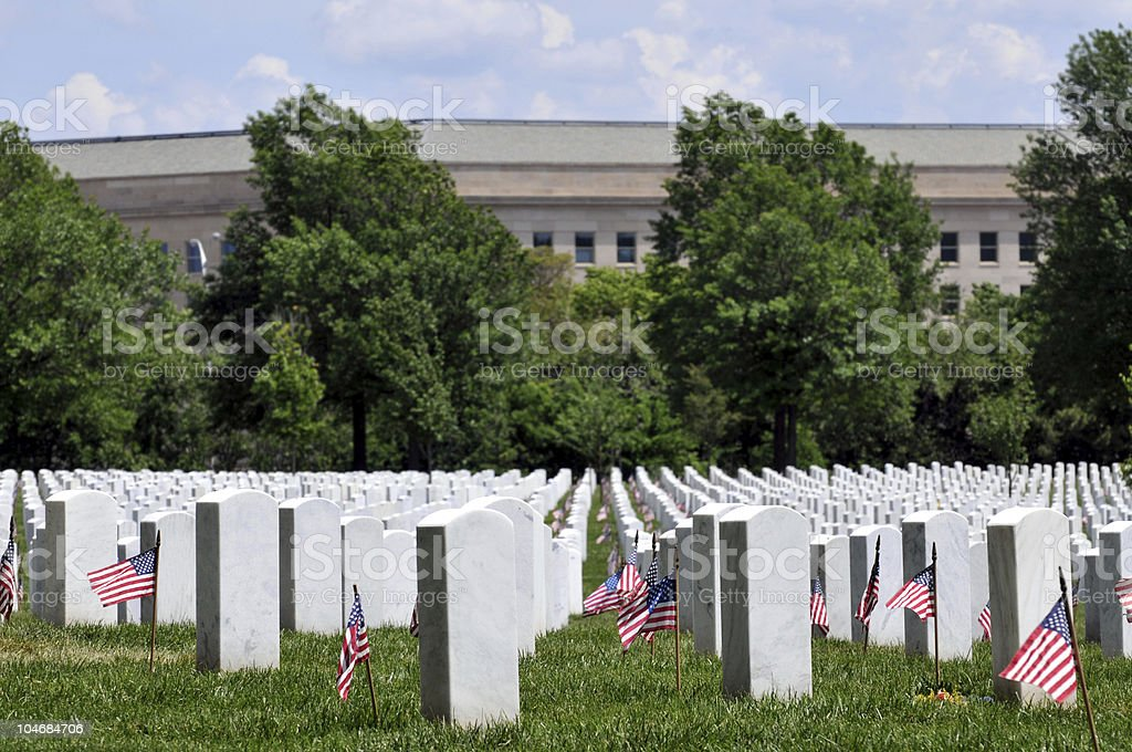Pentagon and military graves stock photo