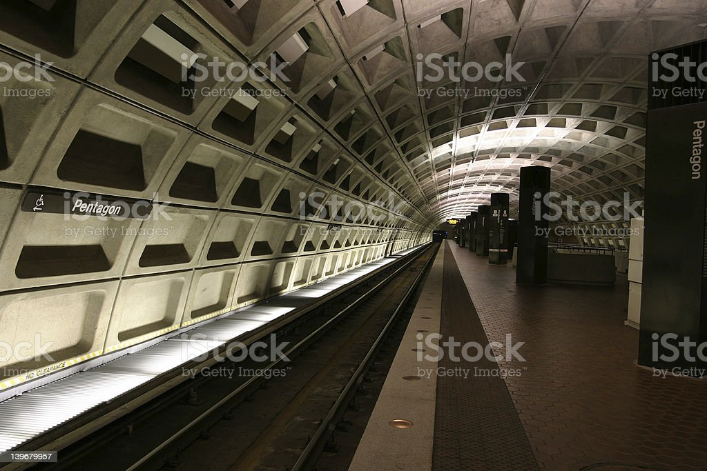 Pentagon Train Station royalty-free stock photo