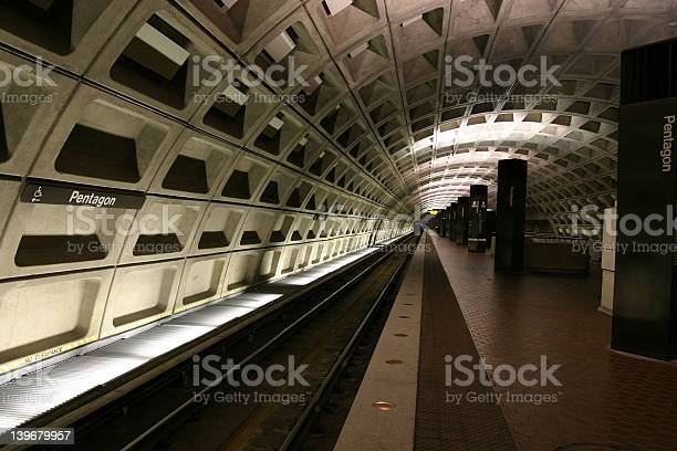Pentagon Train Station Stock Photo - Download Image Now