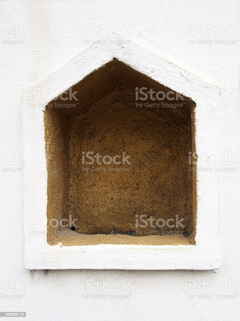 Pentagonal cavity royalty-free stock photo