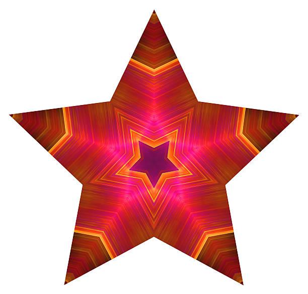Pentagonal colored star stock photo