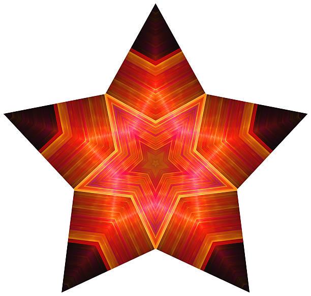 Pentagonal red star stock photo