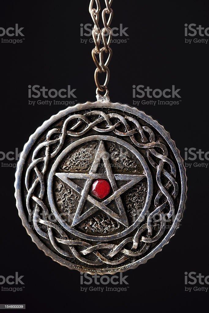 Pentagram Necklace stock photo