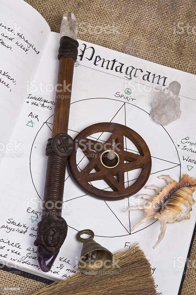 Pentagram - Wiccan Book Of Shadows royalty-free stock photo