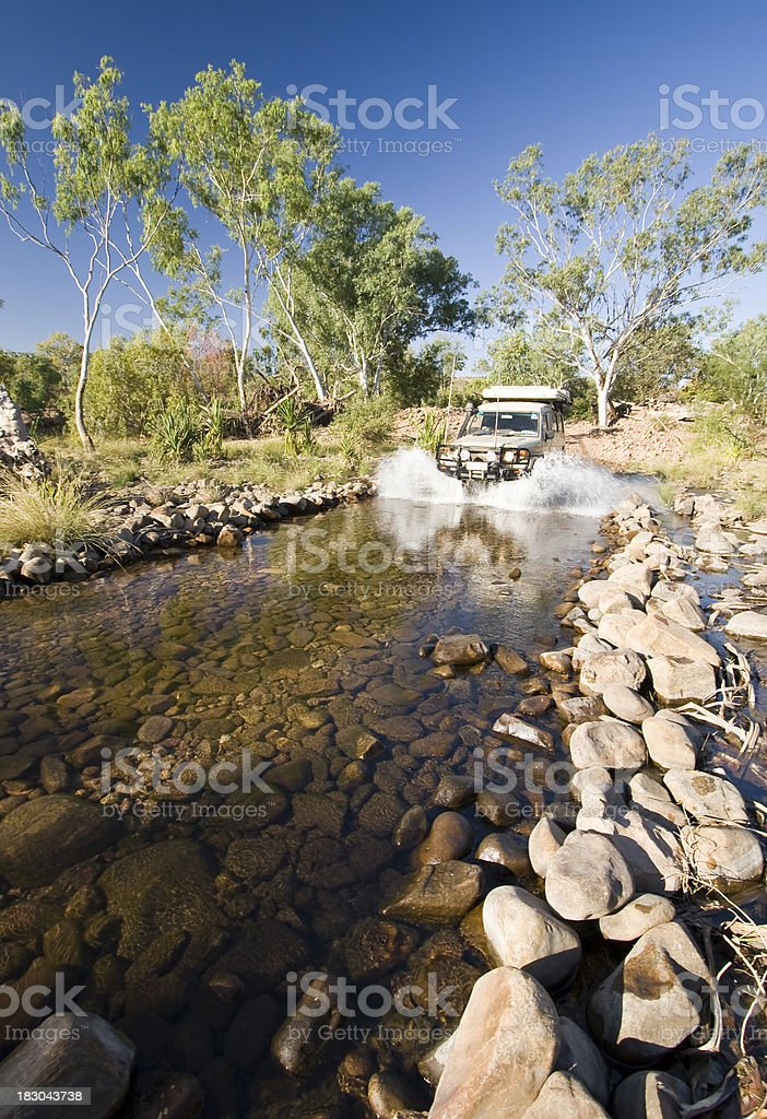 Pentecost River Crossing stock photo