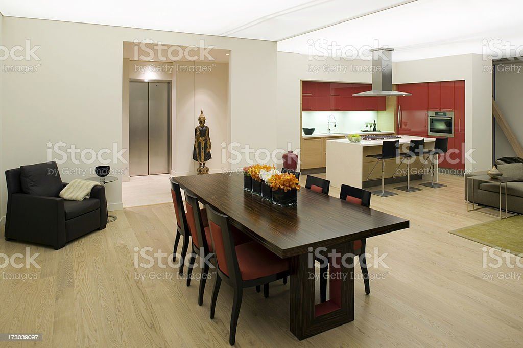 penthouse condominium kitchen royalty-free stock photo
