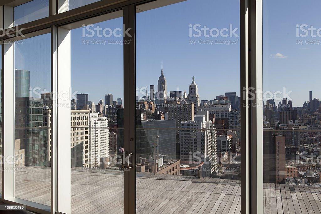 Vista da cobertura - foto de acervo