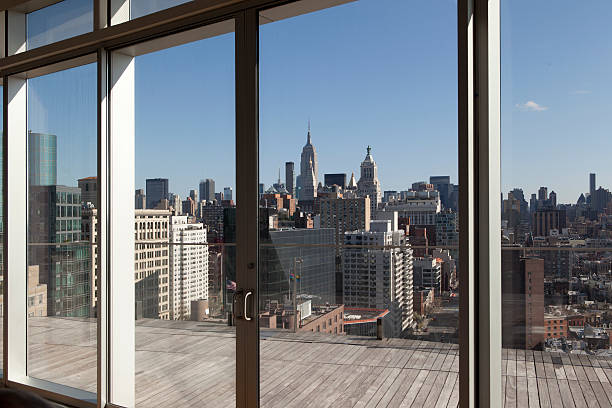 Penthouse View of Manhattan in New York City stock photo