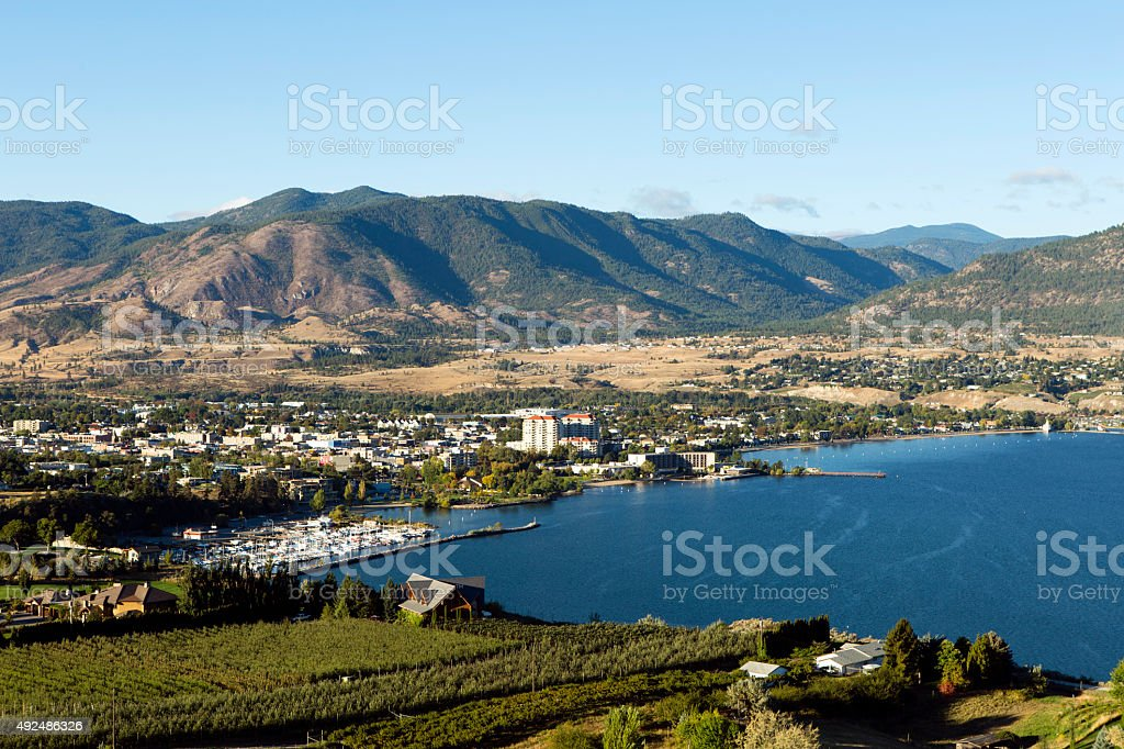 Penticton Okanagan Valley British Columbia Canada stock photo