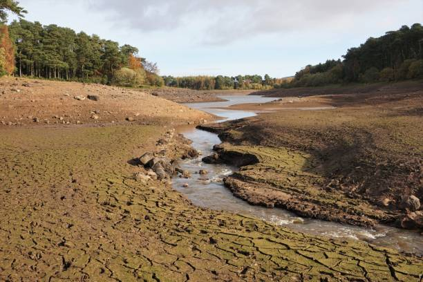 Pentland Hills Drought stock photo