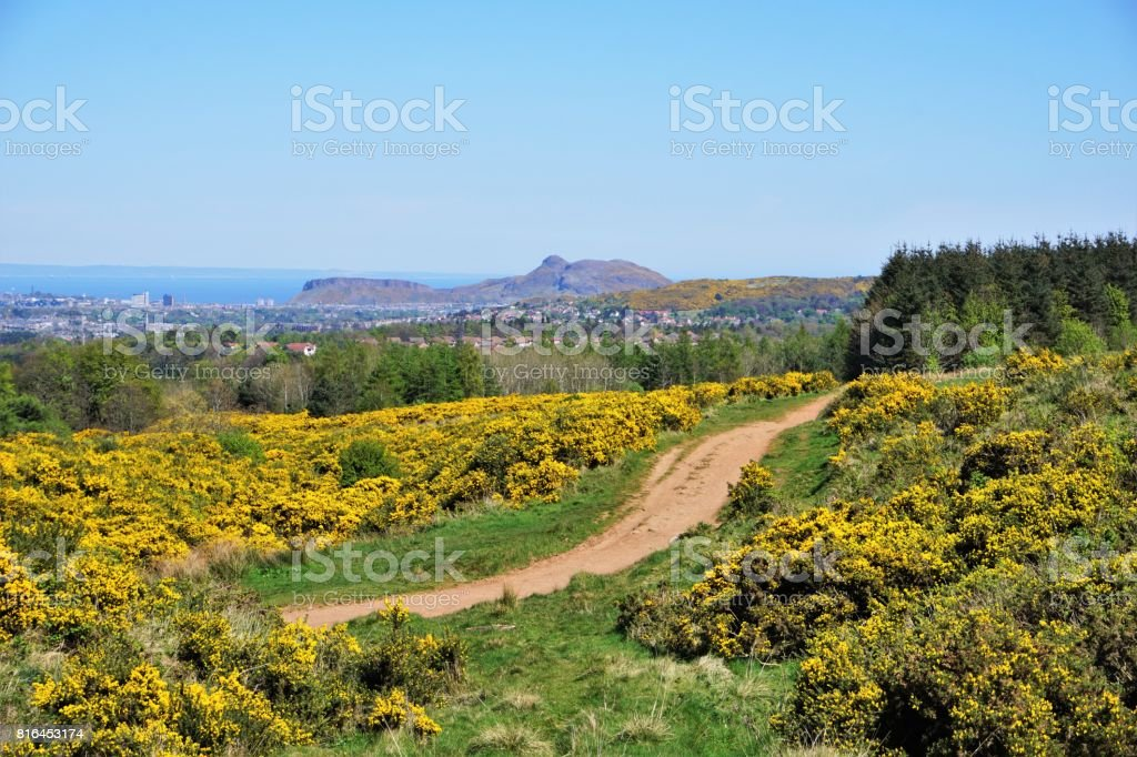 Pentland Hills, Edinburgh Skyline stock photo