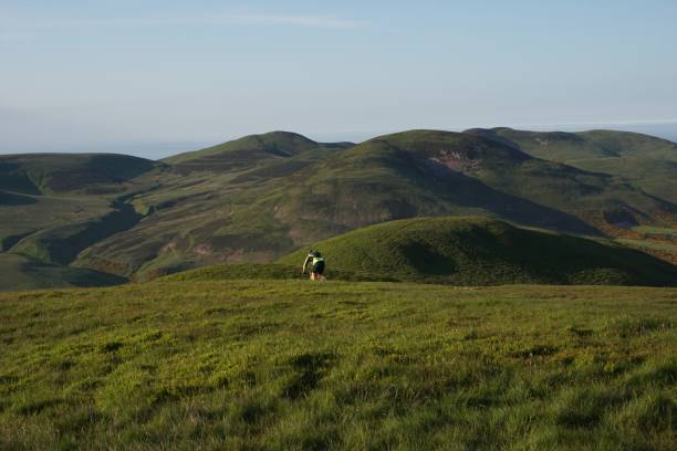 Pentland Hills Mountain biking stock photo