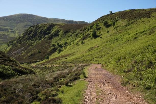 Pentland Hills valley trail stock photo