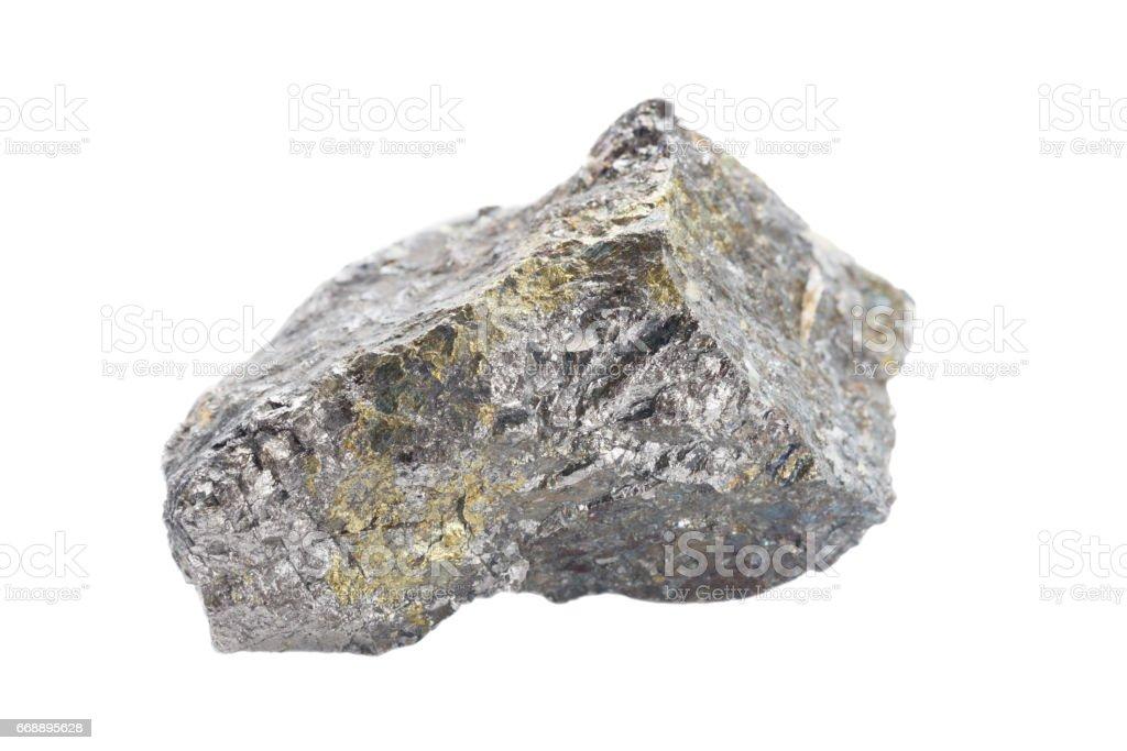 Pentlandite isolated on white stock photo