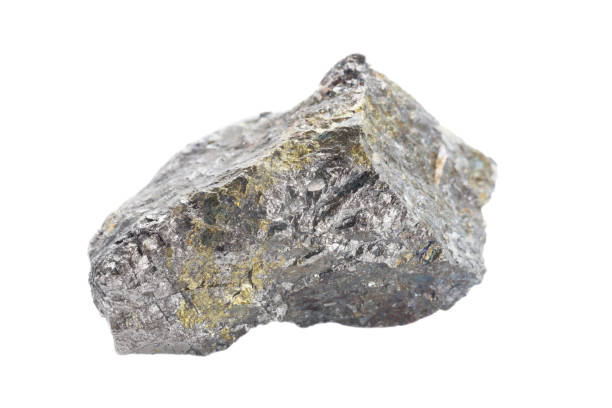 pentlandite isolated on white - nickel stock photos and pictures