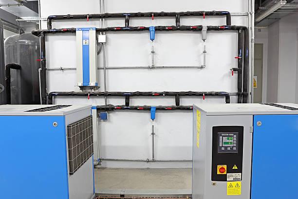 Penumatic system components stock photo