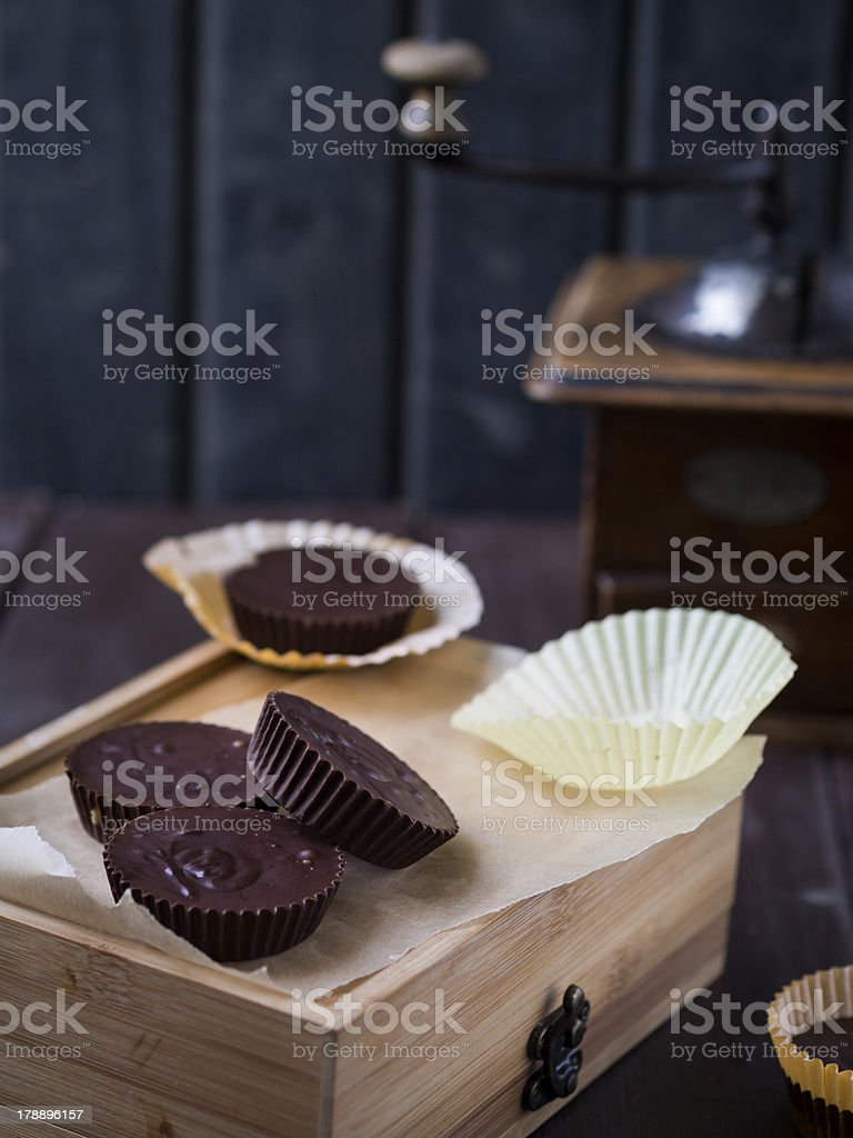 Penut butter cups stock photo