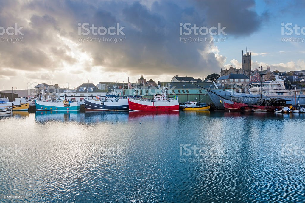 Penzance Harbour Cornwall stock photo