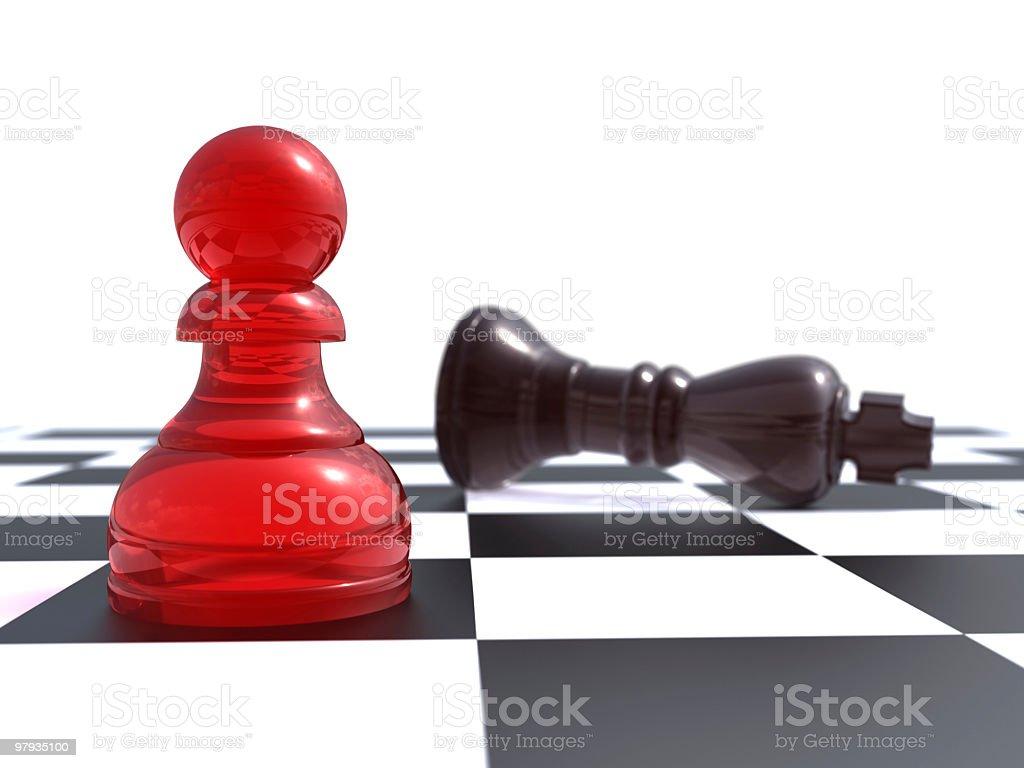 Peon vs king royalty-free stock photo