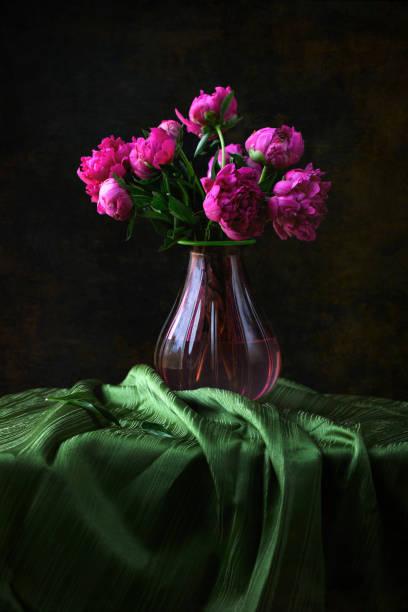 Peonies in a Vase stock photo