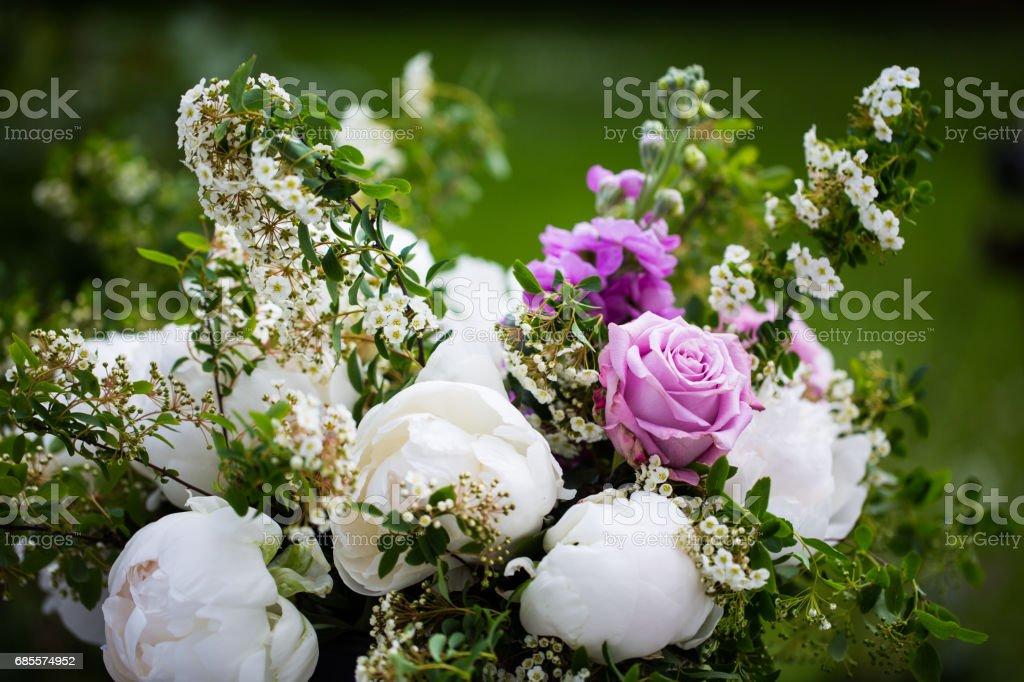 Pfingstrose Bouquet, rosa und weißen Pfingstrosen Lizenzfreies stock-foto