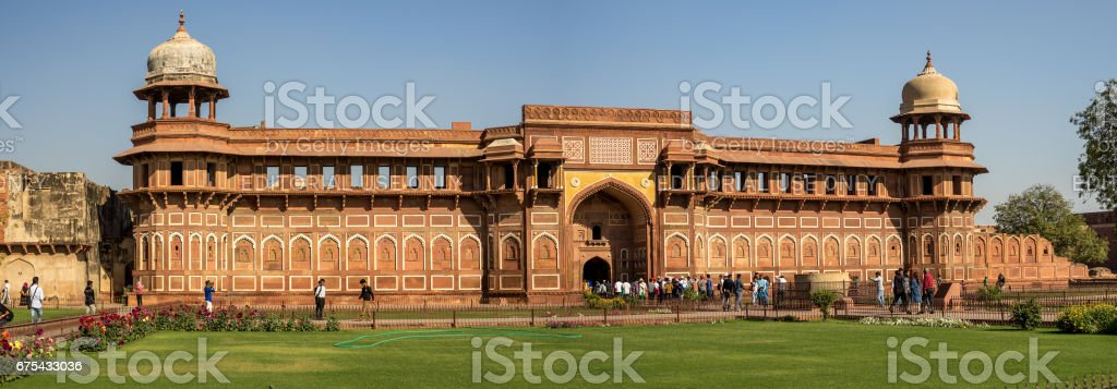 Agra Inida - 5 Mar 2017. Agra Fort Hindistan ziyaret Peoople royalty-free stock photo