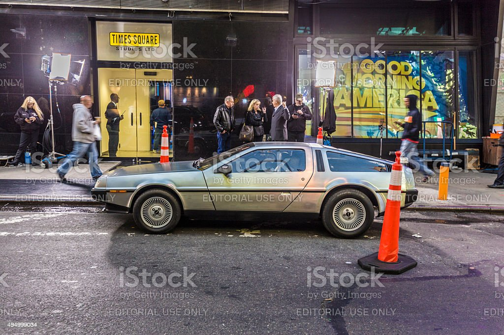 people admire the famous original amc chrome car stock photo