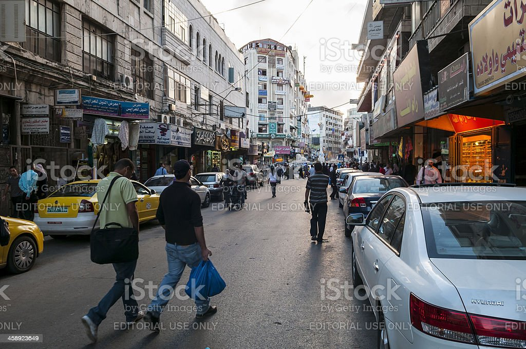 Downtown Ramallah, Palestinian Territories stock photo