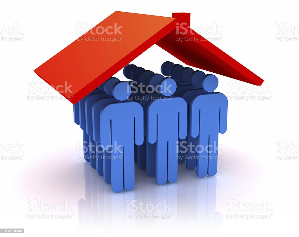People and roof. royalty-free stock photo