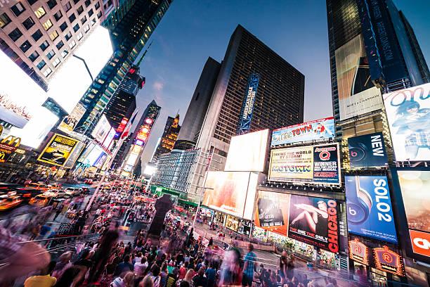 Personnes et le trafic de Times Square - Photo