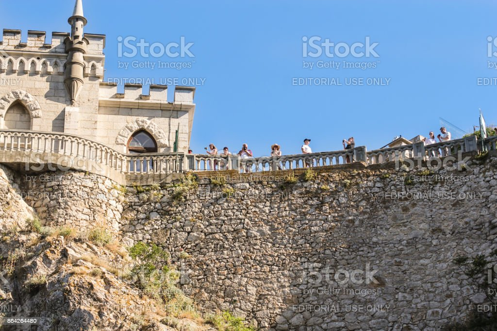 People are at the railing. royalty-free stock photo