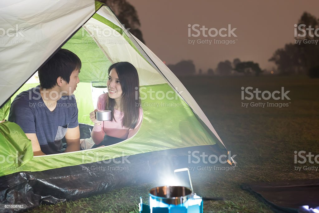 people are camping foto stock royalty-free
