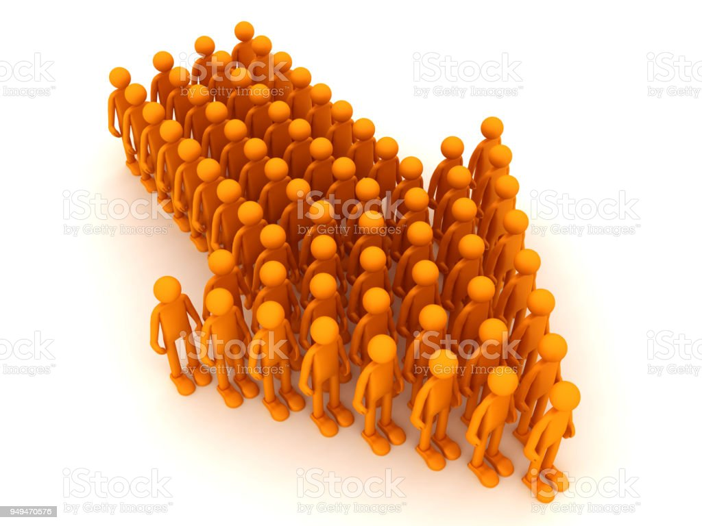People are moving towards success stock photo