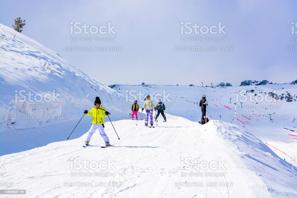 People Are Skiing On Kartalkaya Ski Resort Bolu Stock Photo More