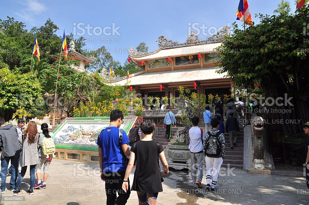 People are visiting pagoda stock photo