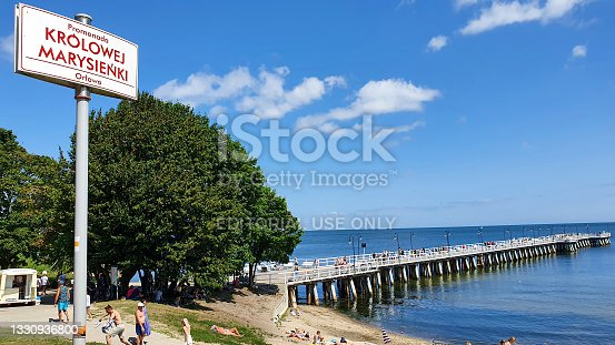 istock People are walking on the pier on a sunny day in Gdynia Orłowo, Poland 1330936800