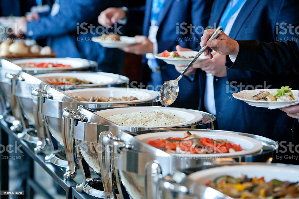 people at a banquet - foto de stock