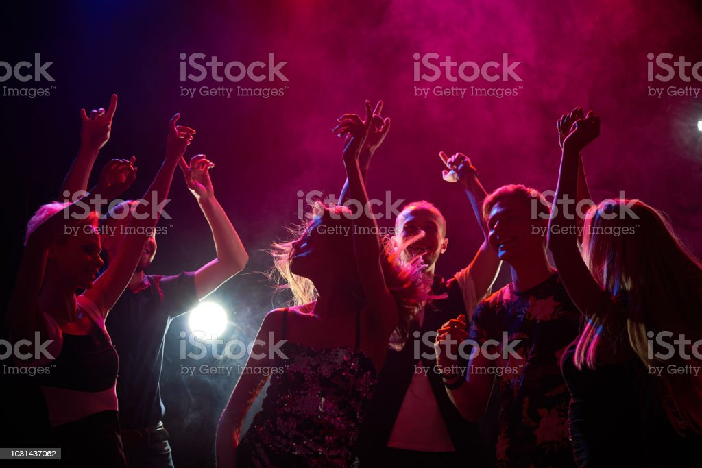 People at a party stock photo