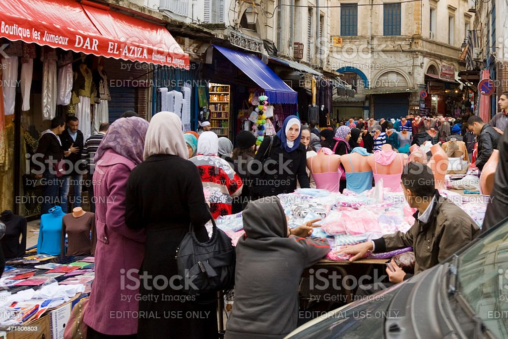 People at a street market in Algiers - Photo
