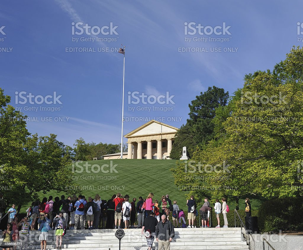 People at Arlington National Cemetery royalty-free stock photo