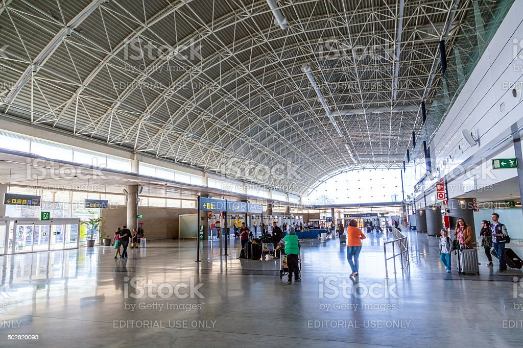 people at arrival hall at Fuerteventura Airport royalty-free stock photo